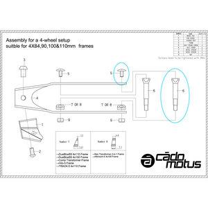 Cádomotus Replacement axle for brake set