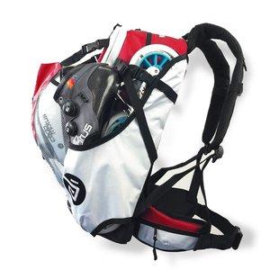 Cádomotus Airflow Wedstrijdtas: sporttas (sportrugzak) voor wielrennen en schaatsen | rood