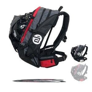 Cádomotus Airflow XL Wedstrijdtas: sporttas (sportrugzak) voor wielrennen en schaatsen | grijs-rood