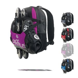 Cádomotus Urban Flow ice and inline skate gear bag for kids | Purple