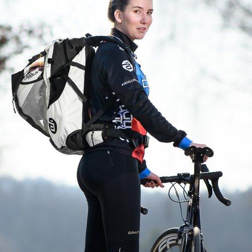 Cádomotus Airflow Wedstrijdtas: sporttas (sportrugzak) voor wielrennen en schaatsen | zwart