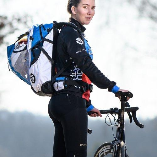 Cádomotus Airflow Wedstrijdtas: sporttas (sportrugzak) voor wielrennen en schaatsen | olympia blauw