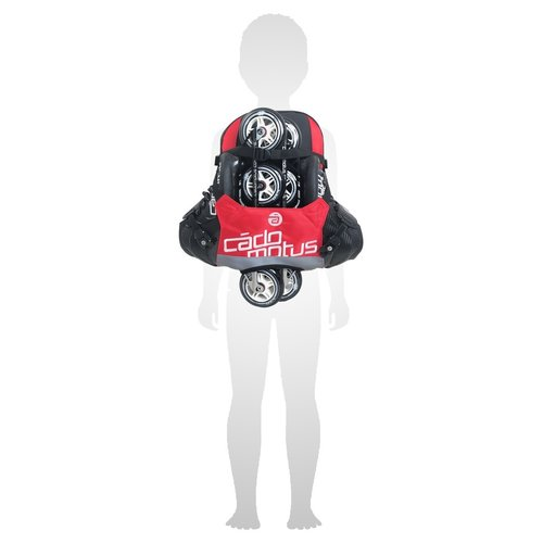 Cádomotus Urban Flow ice and inline skate gear bag for kids | Red
