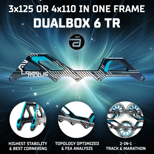 Cádomotus DualBox®6-TR 4x110 en 3x125 in één frame