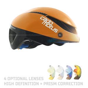 Cádomotus Omega Aerodynamischer Radhelm für Triathlon & Eisschnelllauf - Orange