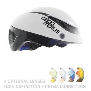 Cádomotus Omega Aerodynamischer Radhelm für Triathlon & Eisschnelllauf - Weiß