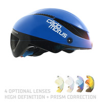 Omega Aero helmet for speedskating and cycling - Blue