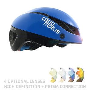 Cádomotus Casque Aéro Omega pour le Cyclisme et Triathlon - Blue