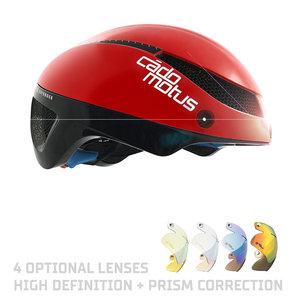 Cádomotus Omega Aerodynamischer Radhelm für Triathlon & Eisschnelllauf - Rot