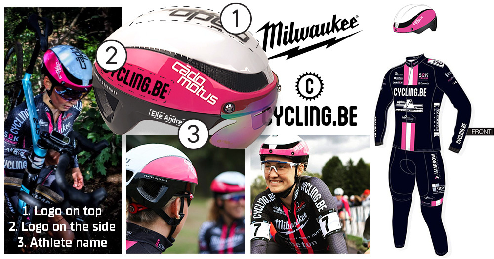 Sponsor logos on your Cycling helmet