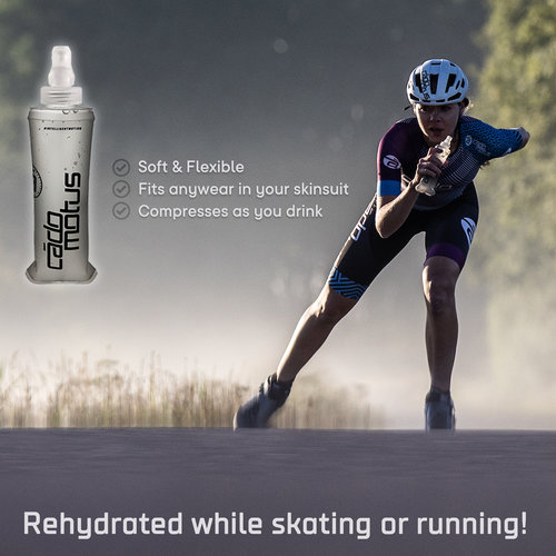 Cádomotus Soft Flask | Collapsible Water Bottle for running and skating | 250ml