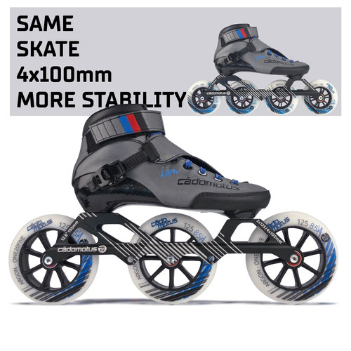 Cádomotus Roller course complet  Agility-3 3x125mm | Taille 37-47