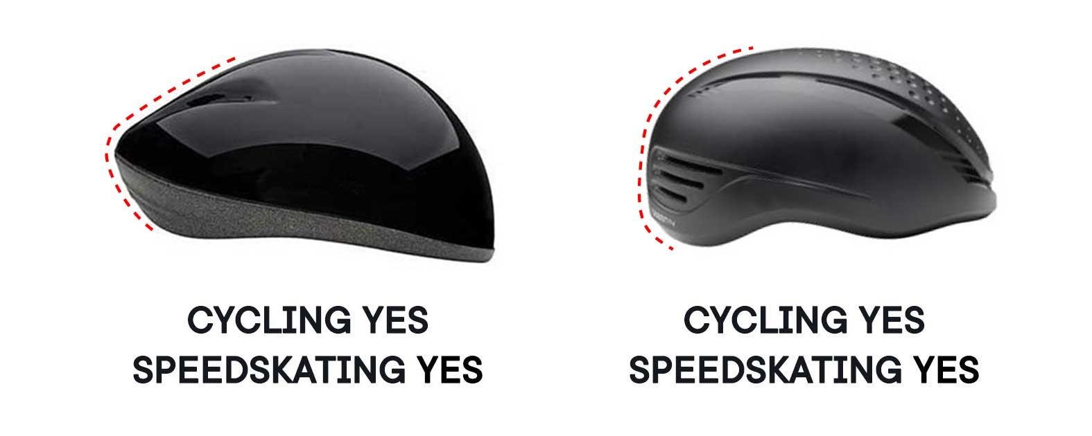 short track helmet shape