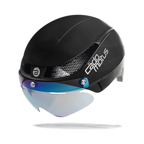 Cádomotus Omega Aerodynamischer Radhelm für Triathlon & Eisschnelllauf - Schwarz