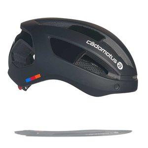 Cádomotus Sigma-II Aerodynamic Cycling helmet with  integrated visor | matte black