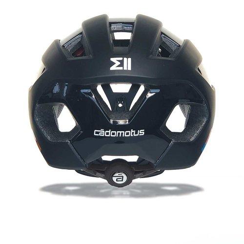 Cádomotus Sigma-II Aerodynamischer Fahrradhelm mit integriertem Visier | mattschwarz