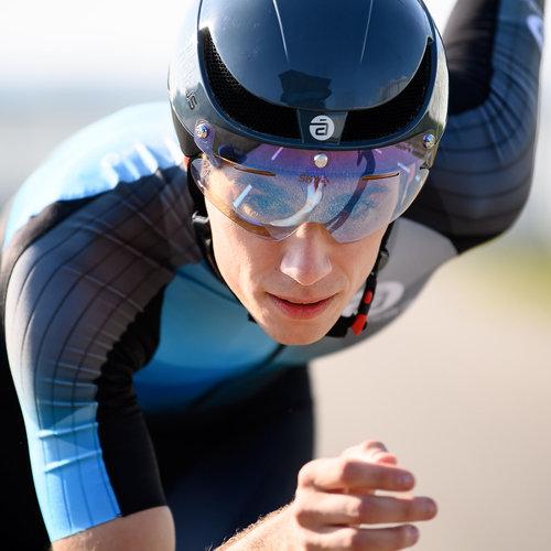 Cádomotus Omega Aerodynamischer Radhelm für Triathlon & Eisschnelllauf - Grau