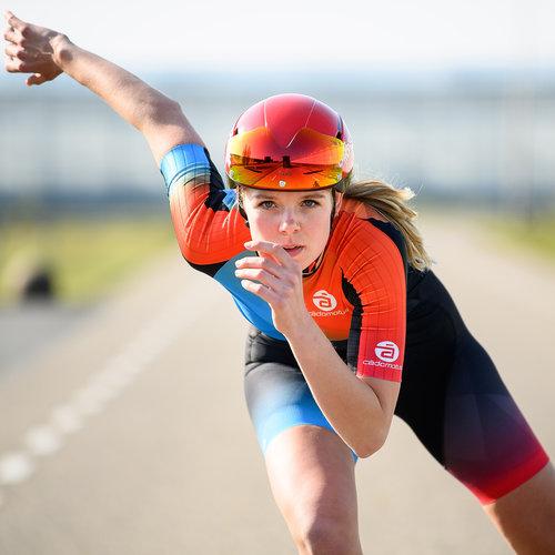 Cádomotus Oméga Casque Aéro Cyclisme - Triathlon | Rouge