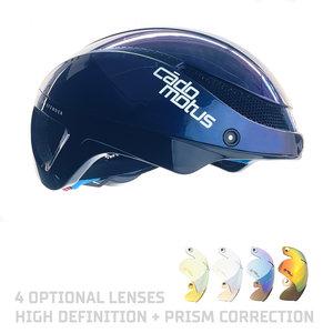 Cádomotus Omega Aerodynamischer Radhelm für Triathlon & Eisschnelllauf - Galaxy