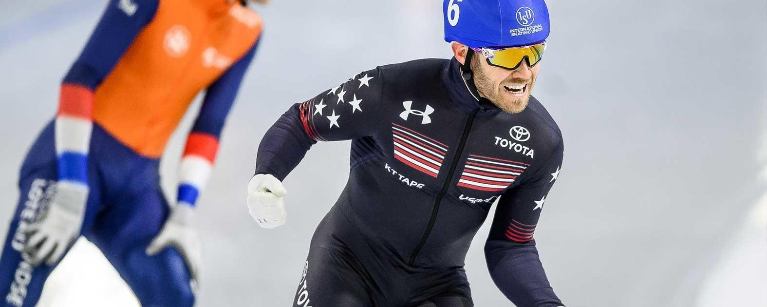 Joey Mantia World Champion ice speedskating