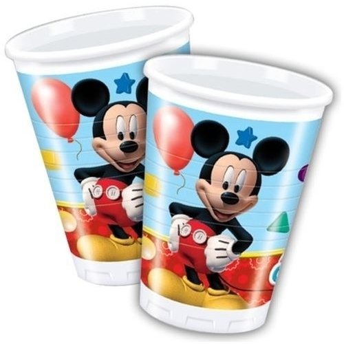 Mickey Mouse 8 Plastic Mickey Mouse Bekertjes - Disney