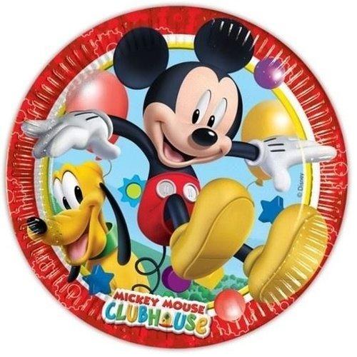 Mickey Mouse 8 kartonnen Mickey Mouse Bordjes - Disney