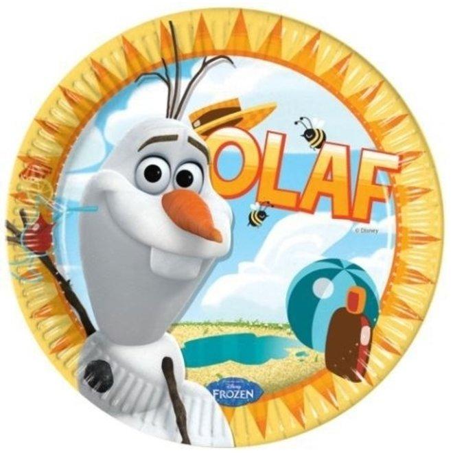 Disney Frozen Olaf Feestbordjes - 8 stuks