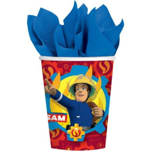 Brandweerman Sam Brandweerman Sam Feestbekertjes - 8 stuks