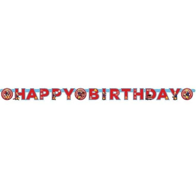 Brandweerman Sam Letterslinger 'Happy Birthday'