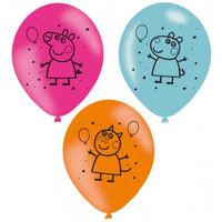 Peppa Pig Ballonnen - 6 stuks