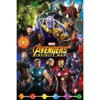 Avengers Infinity War Characters - Maxi Poster