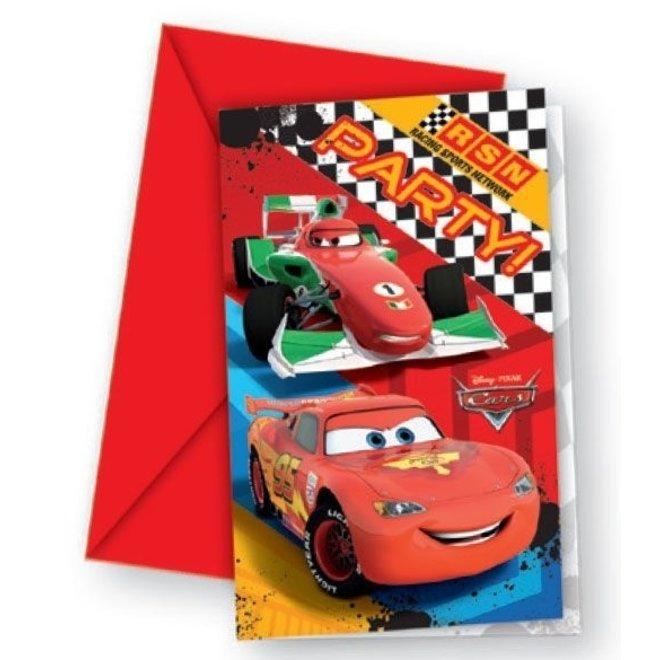 Disney Cars Uitnodigingen Kinderfeestje - Formula
