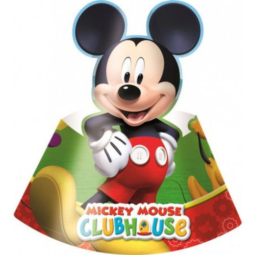 Mickey Mouse 6 Mickey Mouse Feesthoedjes - Disney