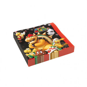 Super Mario Bros Super Mario Bros Servetten - 20 stuks