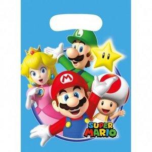 Super Mario Bros Super Mario Bros Uitdeelzakjes - 8 stuks