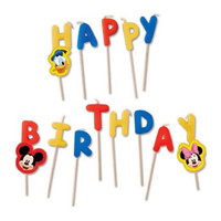 Mickey Mouse Verjaardagskaarsjes 'Happy Birthday'