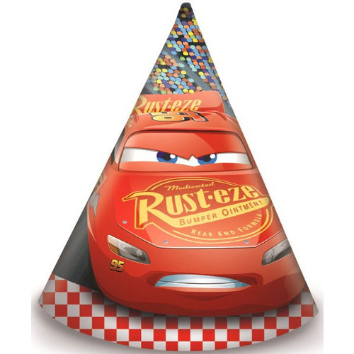 Cars Disney Cars Feesthoedjes - 6 stuks - Formula