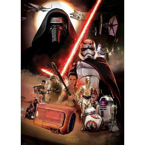 StarWars Star Wars VII Characters Montage - XL Poster