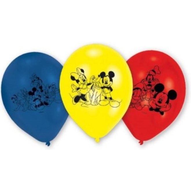 6 Mickey Mouse Ballonnen - Disney