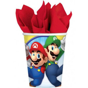 Super Mario Bros Super Mario Bros Feestbekertjes - 8 stuks