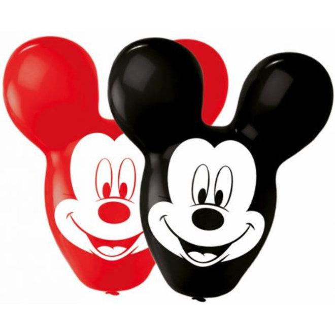 4 Mickey Mouse Ballonnen - Face