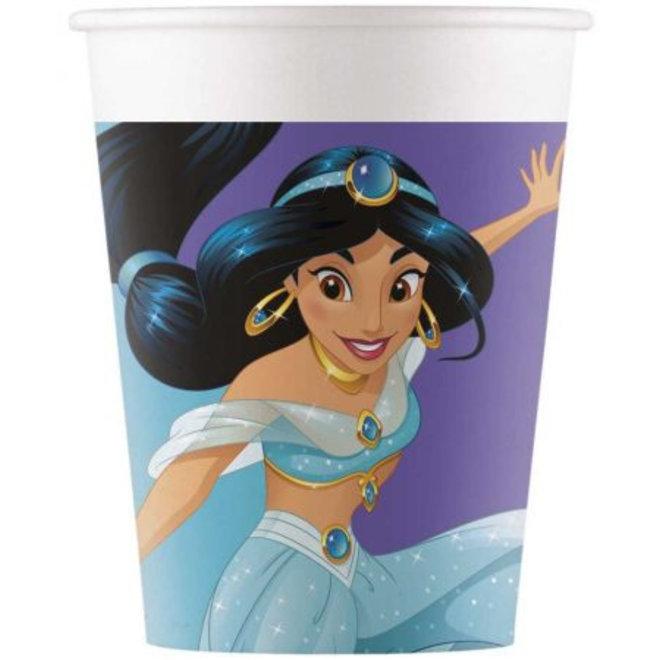 Disney Princess Jasmin Bekertjes - 8 stuks