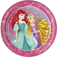 8 Disney Princess Gebaksbordjes - 20 cm