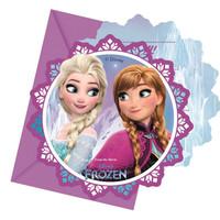 6 Disney Frozen Uitnodigingen Kinderfeestje - Northern Lights