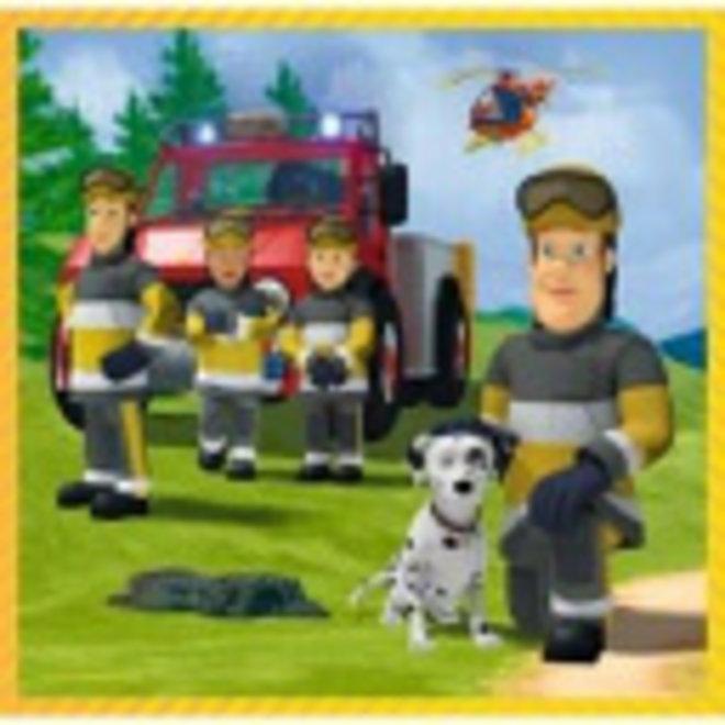 Brandweerman Sam 3 in 1 Puzzel - 20/36/50 stukjes - Trefl