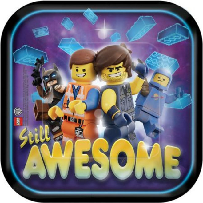 Lego Movie Feestbordjes / Gebaksbordjes - 8 stuks