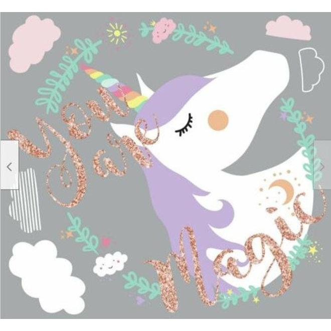 Eenhoorn / Unicorn Muurstickers Magic - Roommates