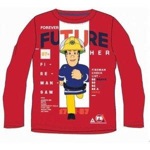 Brandweerman Sam Brandweerman Sam Longsleeve Shirt - Rood