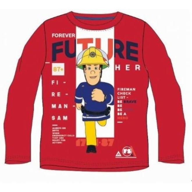 Brandweerman Sam Longsleeve Shirt - Rood