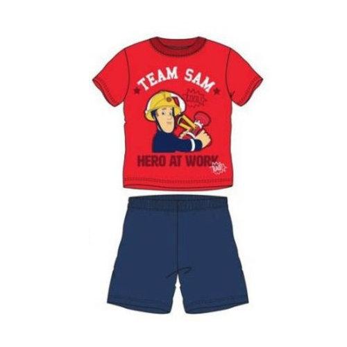 Brandweerman Sam Brandweerman Sam Shortama - Blauwe Short